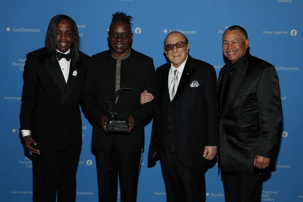 Earth, Wind & Fire Members with Clive Davis, 2019