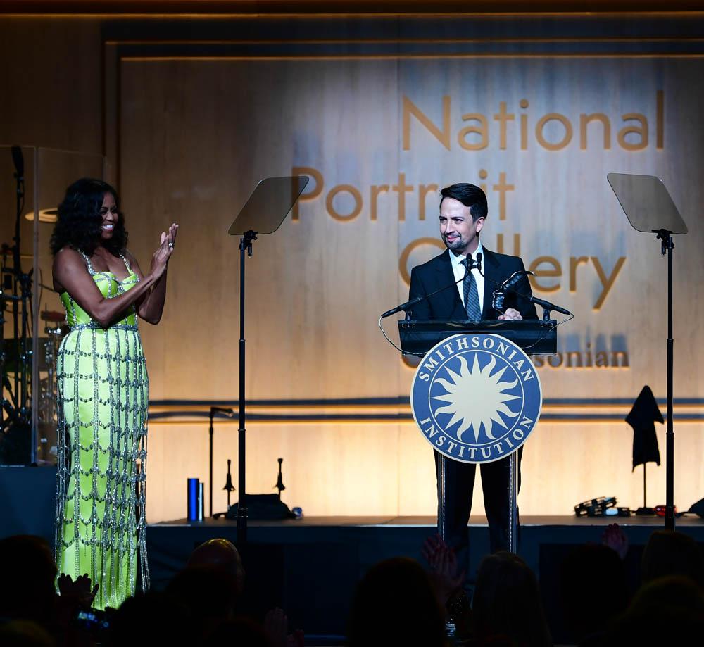Lin-Manuel Miranda & Michelle Obama, 2019