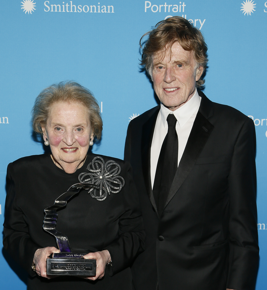 Madeleine Albright and Robert Redford, 2017