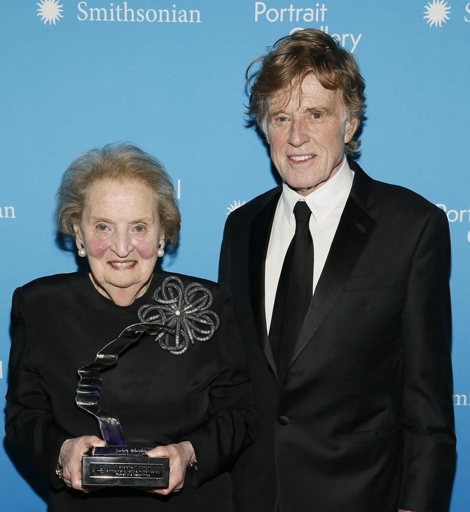 Madeleine Albright and Robert Redford, 2017
