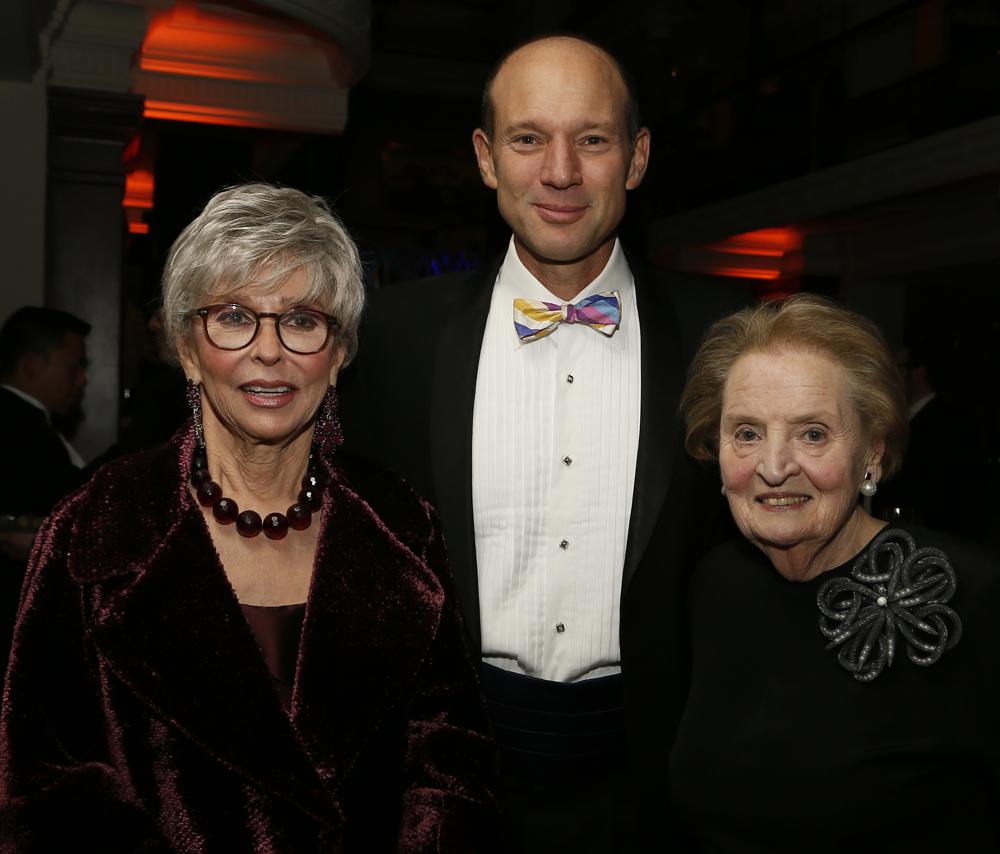 Rita Moreno and Madeleine Albright with Rubenstein